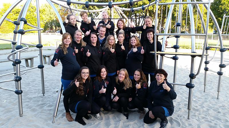 Het team van Kinderopvang Kleinduimpje